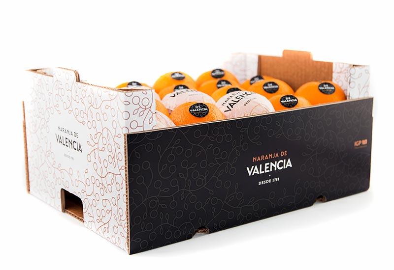 Envase con Naranjas de Valencia 100%