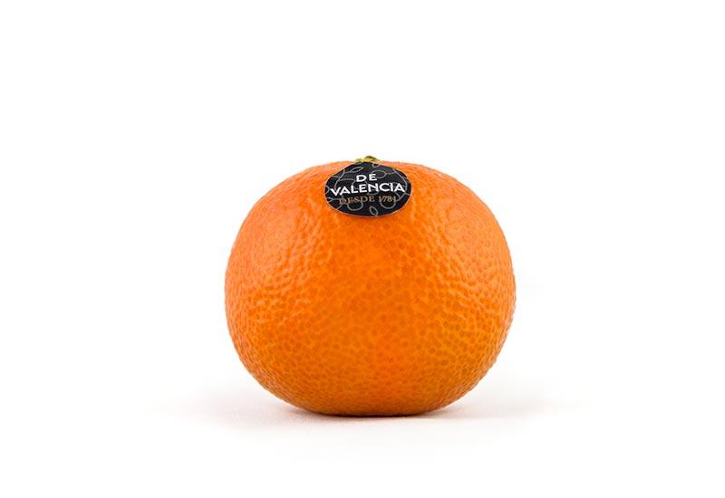 Mandarina de Valencia con etiqueta de procedencia