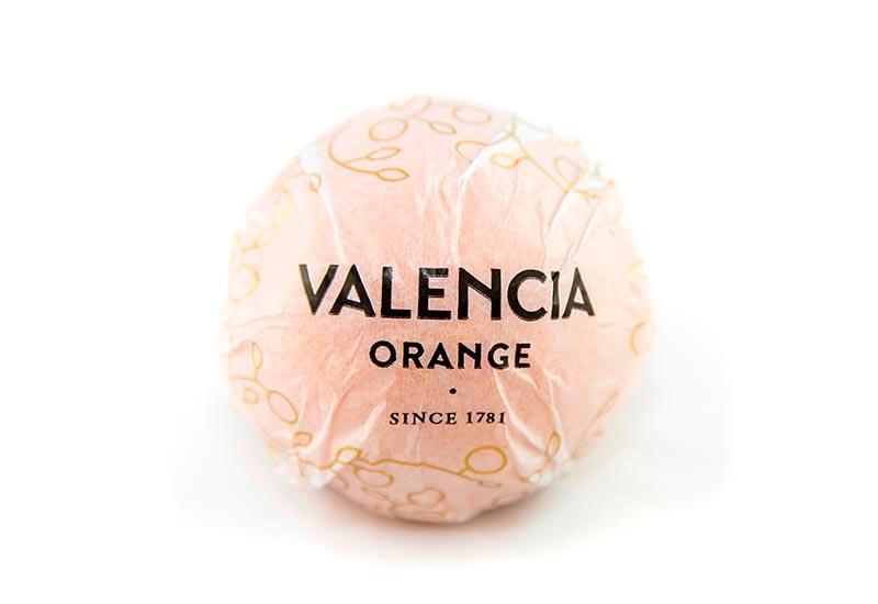 Valencia Orange wrapped on paper